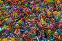 Россыпь цветного бисера различной формы, фото № 888527, снято 25 марта 2009 г. (c) Кекяляйнен Андрей / Фотобанк Лори