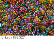 Купить «Россыпь цветного бисера различной формы», фото № 888527, снято 25 марта 2009 г. (c) Кекяляйнен Андрей / Фотобанк Лори