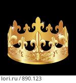 Золотая корона. Стоковая иллюстрация, иллюстратор Андрей Беляев / Фотобанк Лори