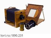 Старая студийная фотокамера и аксессуары. Стоковое фото, фотограф Михаил Лукьянов / Фотобанк Лори