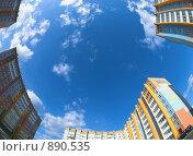 Купить «Спальный микрорайон», фото № 890535, снято 16 сентября 2019 г. (c) Andrey M / Фотобанк Лори