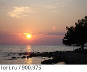Хорватский закат. Стоковое фото, фотограф Евгения Кускова / Фотобанк Лори