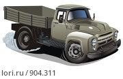 Купить «Мультяшный грузовик», иллюстрация № 904311 (c) Александр Володин / Фотобанк Лори