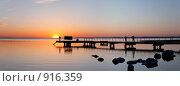 Закат на озере Нарочь (2009 год). Стоковое фото, фотограф Юрий Назаров / Фотобанк Лори