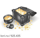 Купить «Сундук с золотом», иллюстрация № 925435 (c) Фальковский Евгений / Фотобанк Лори