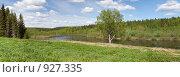 Купить «Северный Урал. Река Вишера. Панорама», фото № 927335, снято 11 июня 2009 г. (c) Ильин Сергей / Фотобанк Лори