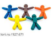 Купить «Пластилиновые человечки», фото № 927671, снято 24 октября 2008 г. (c) Дмитрий Ростовцев / Фотобанк Лори