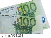 Купить «Банкноты в сто евро», фото № 931231, снято 17 июня 2009 г. (c) Алексей Баранов / Фотобанк Лори