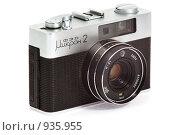 Дальномерный фотоаппарат ФЭД микрон-2 на белом фоне (2009 год). Редакционное фото, фотограф Игорь Дашко / Фотобанк Лори