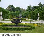 Парк в летней резиденции Габсбургов, Вена, Австрия. Стоковое фото, фотограф Евгения Кускова / Фотобанк Лори