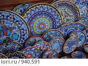 Купить «Испания. Андалусия. Керамические тарелки», фото № 940591, снято 7 января 2009 г. (c) Maria Kuryleva / Фотобанк Лори