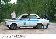 Оформление нарушения ПДД (2006 год). Редакционное фото, фотограф Андрей Рудаков / Фотобанк Лори