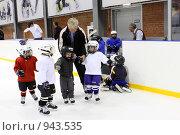 Купить «Детская хоккейная команда, г.Балашиха», эксклюзивное фото № 943535, снято 29 мая 2008 г. (c) ДеН / Фотобанк Лори
