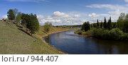 Купить «Классическая уральская деревня. Панорама», фото № 944407, снято 31 мая 2009 г. (c) Максим Антипин / Фотобанк Лори