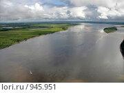 Река Обь  в среднем течении. Стоковое фото, фотограф Владимир Мельников / Фотобанк Лори