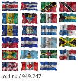 Купить «Флаги  Северной Америки», иллюстрация № 949247 (c) Яков Филимонов / Фотобанк Лори