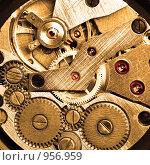 Часовой механизм. Стоковое фото, фотограф Роман Сигаев / Фотобанк Лори