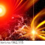 Купить «Абстрактный фон с молниями», иллюстрация № 962115 (c) ElenArt / Фотобанк Лори