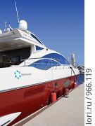Купить «Яхта-участница Московского фестиваля яхт», фото № 966119, снято 3 июля 2009 г. (c) Владимир Сергеев / Фотобанк Лори