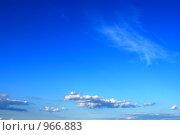 Небо и облака. Стоковое фото, фотограф Виталий Пушков / Фотобанк Лори