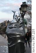 Купить «Живая статуя. Париж», фото № 967231, снято 28 марта 2009 г. (c) Екатерина Воякина / Фотобанк Лори