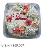 Купить «Юбилейный торт», фото № 969007, снято 16 августа 2018 г. (c) Anna Kavchik / Фотобанк Лори
