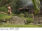 Деревня папуасов провинции Ириан Джай (2007 год). Редакционное фото, фотограф Александр Киселев / Фотобанк Лори