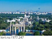 Вид сверху на ВВЦ (бывший ВДНХ), фото № 977247, снято 18 июня 2009 г. (c) Куликов Константин / Фотобанк Лори