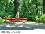 Лавочка. Стоковое фото, фотограф Алексей Васильев / Фотобанк Лори