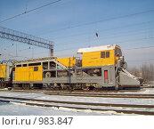 Снегоуборочная машина (2009 год). Редакционное фото, фотограф Алексей Мартов / Фотобанк Лори