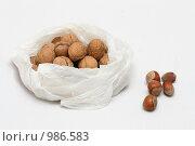 Грецкие орехи и фундук. Стоковое фото, фотограф Сухоносова Анастасия / Фотобанк Лори