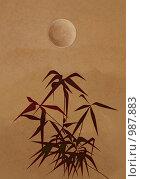 Купить «Ветка бамбука в китайском стиле», иллюстрация № 987883 (c) Марина Рядовкина / Фотобанк Лори