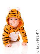 Купить «Ребенок-тигр», фото № 988411, снято 7 мая 2009 г. (c) Ольга Сапегина / Фотобанк Лори