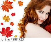 Купить «Девушка-осень», фото № 988723, снято 27 февраля 2009 г. (c) Вероника Галкина / Фотобанк Лори