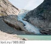Купить «Ледник Бриксдаль (Briksdalsbreen)», фото № 989803, снято 18 августа 2008 г. (c) Роман Мухин / Фотобанк Лори