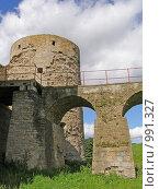 Копорье. Мост и башня (2008 год). Стоковое фото, фотограф Виктор Косьянчук / Фотобанк Лори