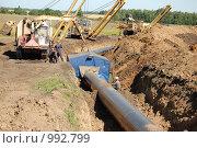Замена труб газопровода Уренгой-Помары-Ужгород. Стоковое фото, фотограф nikolay uralev / Фотобанк Лори