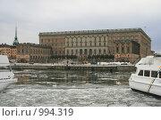 Купить «Городской пейзаж. Вид на королевский дворец.  (Стокгольм, Швеция)», фото № 994319, снято 16 марта 2009 г. (c) Александр Секретарев / Фотобанк Лори
