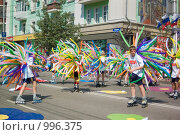 Купить «Начало детского парада. Красноярск.», фото № 996375, снято 20 января 2019 г. (c) Типляшина Евгения / Фотобанк Лори