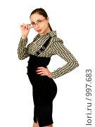 Деловая девушка в очках. Стоковое фото, фотограф Сухоносова Анастасия / Фотобанк Лори