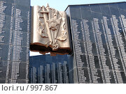 Купить «Хабаровск, часть стены памяти», эксклюзивное фото № 997867, снято 10 мая 2009 г. (c) Катерина Белякина / Фотобанк Лори