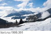 Купить «Зимний пейзаж. Доломитовые Альпы, Италия», фото № 999391, снято 7 февраля 2009 г. (c) Николай Коржов / Фотобанк Лори