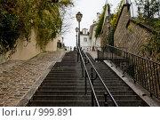 Купить «Лестница на Монмартр», фото № 999891, снято 18 ноября 2008 г. (c) Александр Трушкин / Фотобанк Лори