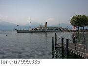 Купить «Отходящий теплоход на Женевском озере», фото № 999935, снято 25 июня 2008 г. (c) Александр Трушкин / Фотобанк Лори