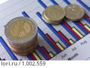 Купить «Монеты и диаграмма», фото № 1002559, снято 18 июля 2009 г. (c) Вадим Субботин / Фотобанк Лори