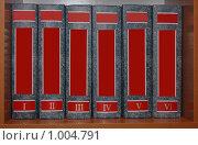 Серия книг на полке. Стоковое фото, фотограф Федор Болба / Фотобанк Лори