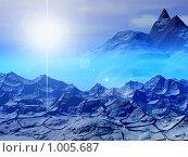 Купить «Фантастический 3d пейзаж. Таинственный свет», иллюстрация № 1005687 (c) ElenArt / Фотобанк Лори
