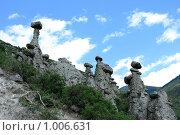 Купить «Каменные грибы в горах Алтая», эксклюзивное фото № 1006631, снято 14 июля 2009 г. (c) Яна Королёва / Фотобанк Лори