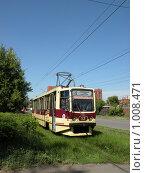 Трамвай на газоне (2009 год). Редакционное фото, фотограф Алексей Мартов / Фотобанк Лори