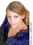 Купить «Девушка в шубе», фото № 1009147, снято 29 ноября 2008 г. (c) Сергей Сухоруков / Фотобанк Лори